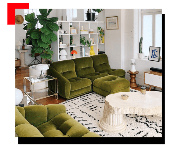 Living con muebles